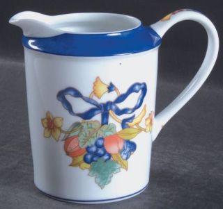 Bernardaud Borghese Creamer, Fine China Dinnerware   Different Color Band,Fruit/