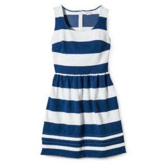 Merona Womens Ponte Dress   Blue/Sour Cream   XS