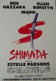 Shimada (Original Broadway Theatre Window Card)