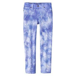 Girls Tye Dye Print Skinny Jean   Bright Blue 6X