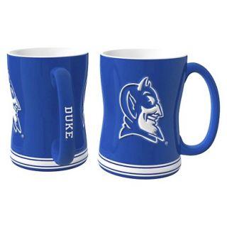 Boelter Brands NCAA 2 Pack Duke Blue Devils Sculpted Relief Style Coffee Mug