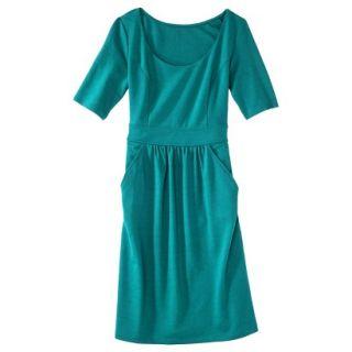 Merona Womens Ponte Elbow Sleeve Dress w/Pockets   Monterey Bay   XXL