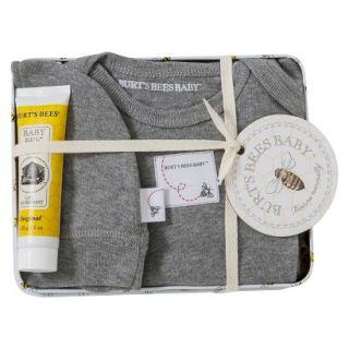 Burts Bees Baby Newborn Neutral Layette Set with Collectible Tin   Heather Grey