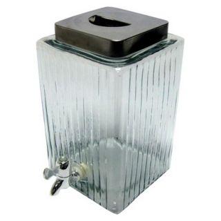 Threshold Ribbed Glass Beverage Dispenser   9 Liter