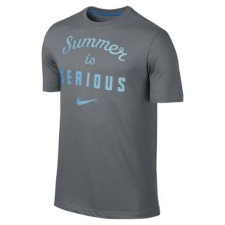 Nike Summer Is Serious Mens T Shirt   Cool Grey