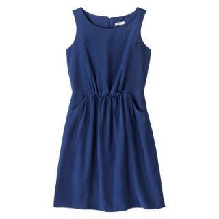 Merona Womens Woven Drapey Dress   Waterloo Blue   XL