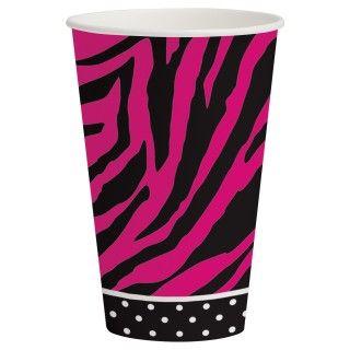 Pink Zebra Boutique 12 oz. Paper Cups