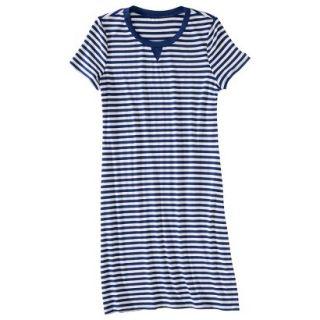 Merona Womens Knit T Shirt Dress   Blue/White   M