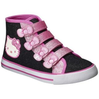 Toddler Girls Hello Kitty High Top Canvas   Black 5