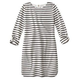 Merona Womens French Terry Dress   Black/White   L