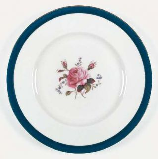 Coalport Fairfax Cobalt Blue Dinner Plate, Fine China Dinnerware   Blue Band, Ro