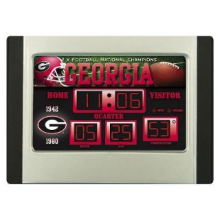 Team Sports America Georgia Scoreboard Desk Clock