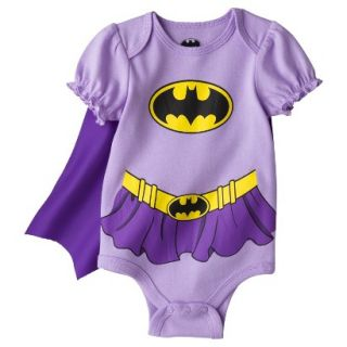 Batman Newborn Girls Batgirl Caped Bodysuit   Purple 0 3 M