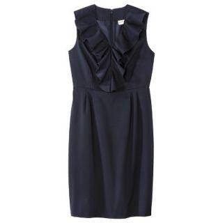 Merona Petites Sleeveless Sheath Dress   Blue 6P