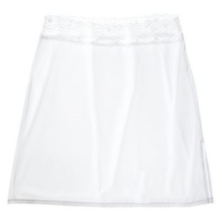 Gilligan & OMalley Womens 18 Half Slip With Lace   White L