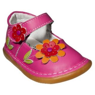 Little Girls Wee Squeak Daisy Mary Jane   Hot Pink 3