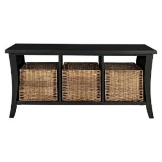 Bench Crosley Wallis Entryway Storage Bench   Black