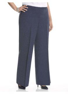 Lane Bryant Plus Size Lena railroad stripe wide leg pant     Womens Size 18,