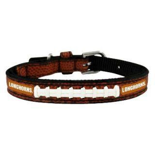 Texas Longhorns Classic Leather Toy Football Collar