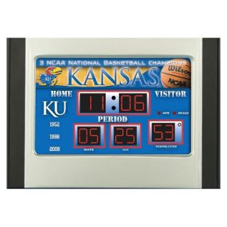 Team Sports America Kansas Scoreboard Desk Clock