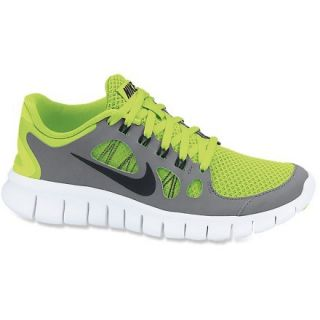 Nike Free 5.0 Running Shoes  Boys,  VOLT/COOL Grey/PURE PLATI,  Kids 5