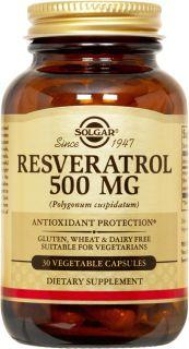 Reserveage Organics Resveratrol 500 Mg 30 Vegetarian Capsules