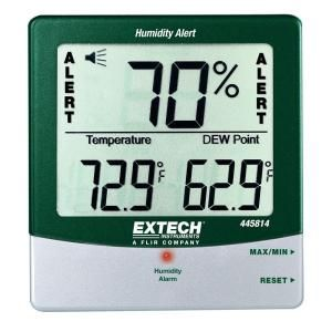 Extech Instruments Big Digit Humidity Alert Hygro Thermometer 445814