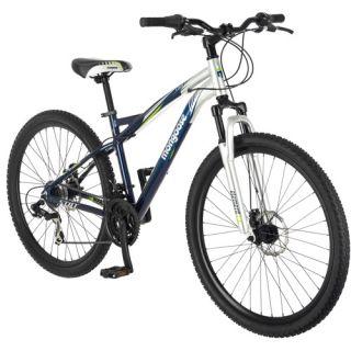 29 Mongoose Stat Mens Mountain Bike, Blue/Silver