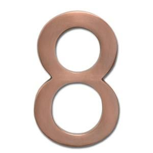 Architectural Mailboxes 4 in. Cast Brass Antique Copper Floating House Number 8 3582AC 8
