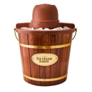 Nostalgia Electrics 4 Quart Wooden Bucket Electric Ice Cream Maker ICMW400