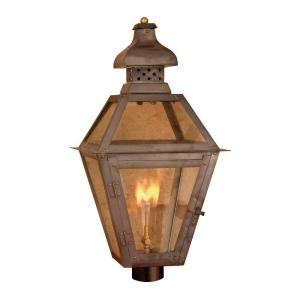 Titan Lighting Bayou 26 in. Outdoor Washed Pewter Gas Wall Lantern TN 7915