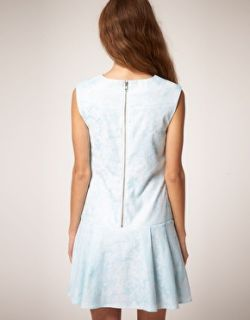 Vestido de corte recto de jacquard sin mangas de en
