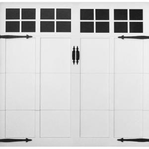 Martin Garage Doors David O. Martin Collection Pinnacle Design 63 9 ft. x 7 ft. Aluminum White Insulation Clear Window Garage Door HDIY 000857