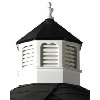 HomePlace Structures Vinyl Octagon Cupola with Black Metal Roof SVCUP