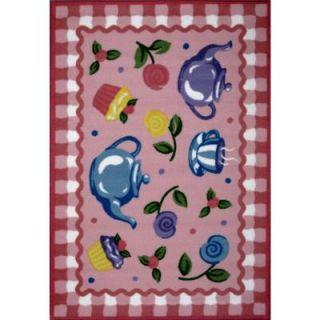 LA Rug Inc. Olive Kids Tea Party Multi Colored 39 in. x 58 in. Area Rug OLK 056 3958