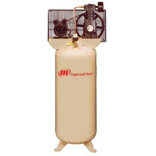 Ingersoll Rand 120 Gallon Single Phrase Electric Driven Duplex Air Compressor Tools