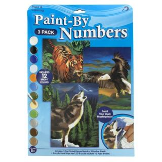 Paint by Numbers Wolf, Eagle and Tiger: Pretend Play, Arts & Crafts