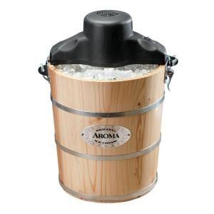 AROMA 6 Qt. Wood Barrel Ice Cream Maker AIC 206EM
