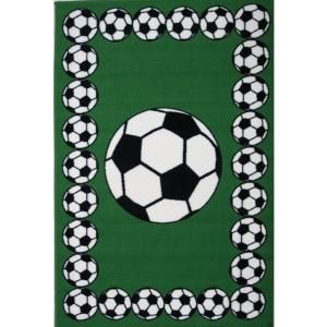 LA Rug Inc. Fun Time Soccer Time Multi Colored 39 in. x 58 in. Area Rug FT 94 3958