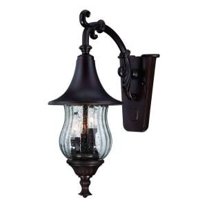 Acclaim Lighting Del Rio Collection 3 Light Outdoor Architectural Bronze Wall Mount Light Fixture 3402ABZ