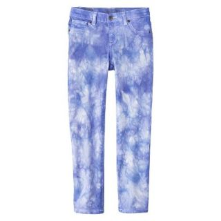 Girls Tye Dye Print Skinny Jean   Bright Blue 10