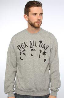 DGK The Uptown Crew Sweatshirt in Athletic Heather