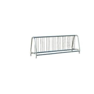 Ultra Play 8 ft. Galvanized Commercial Park Double Sided Bike Rack Portable 5908P
