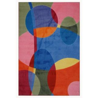 LA Rug Inc. Supreme Groovy Dots Multi Colored 39 in. x 58 in. Area Rug TSC 246 3958