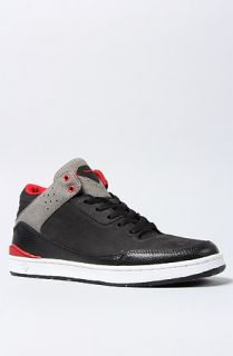 Diamond Supply Co. The Marquise Sneaker in Black and Red Nubuck–