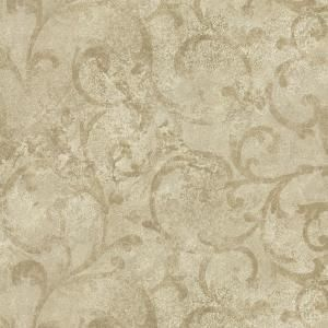 Brewster 8 in. W x 10 in. H Marble Textured Scroll Wallpaper Sample GK80707SAM