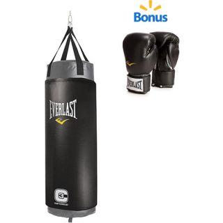 Everlast Elite 100 lb. C3 Foam Heavy Bag and Pro Style Boxing Gloves Value Bundle