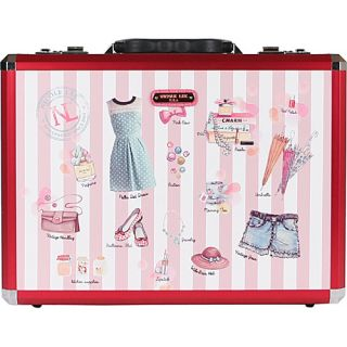 Priscilla Aluminum Briefcase Print Collection Doll House   Nicole Lee