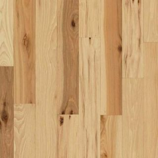 Bruce Hickory Rustic Natural 3/4 in. Thick x 3 1/4 in. Wide x Random Length Solid Hardwood Flooring (22 sq. ft./case) AHS471