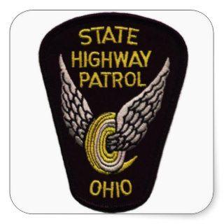 OHIO STATE HIGHWAY PATROL PATCH SQUARE STICKER